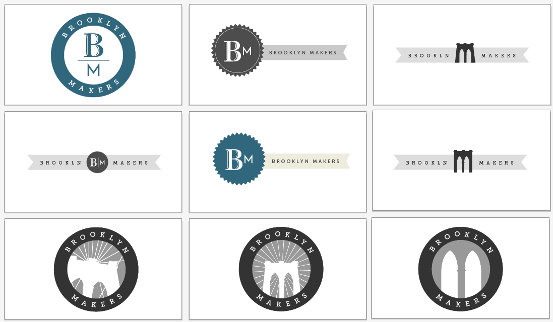 brooklyn makers logo choices