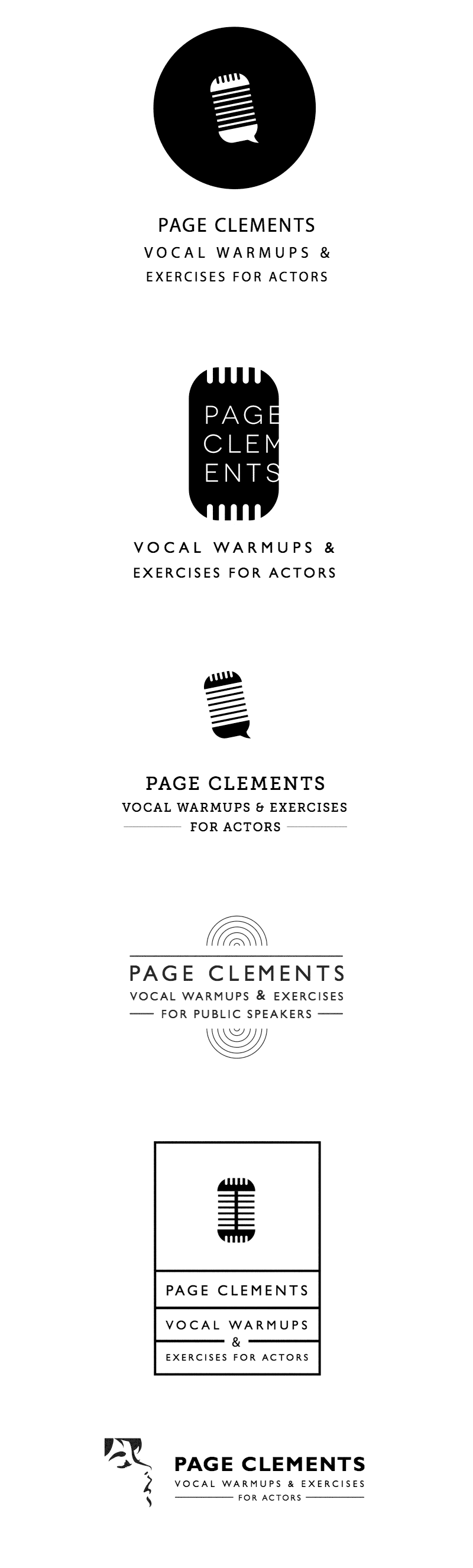 Page Clements Vocal Warmup Logos by mimoYmima.com - Concepts