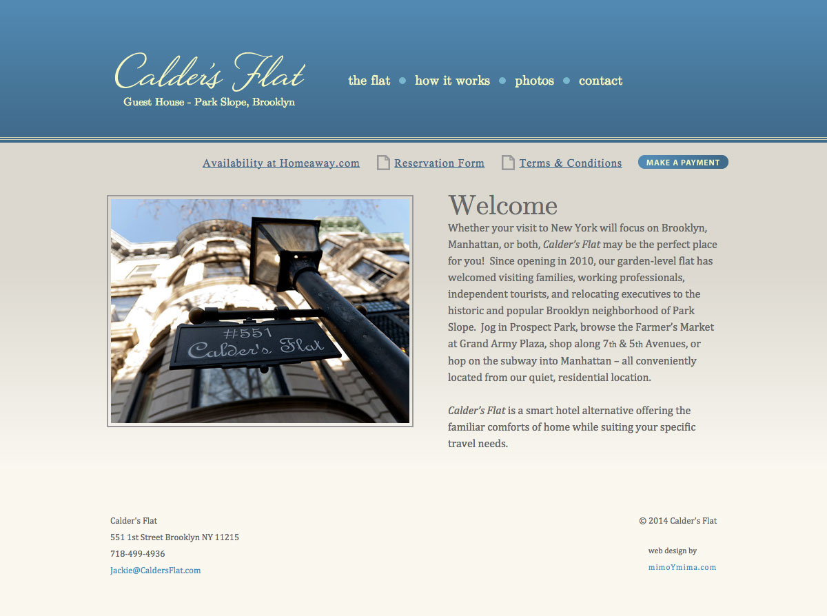 Calders Flat website screenshot