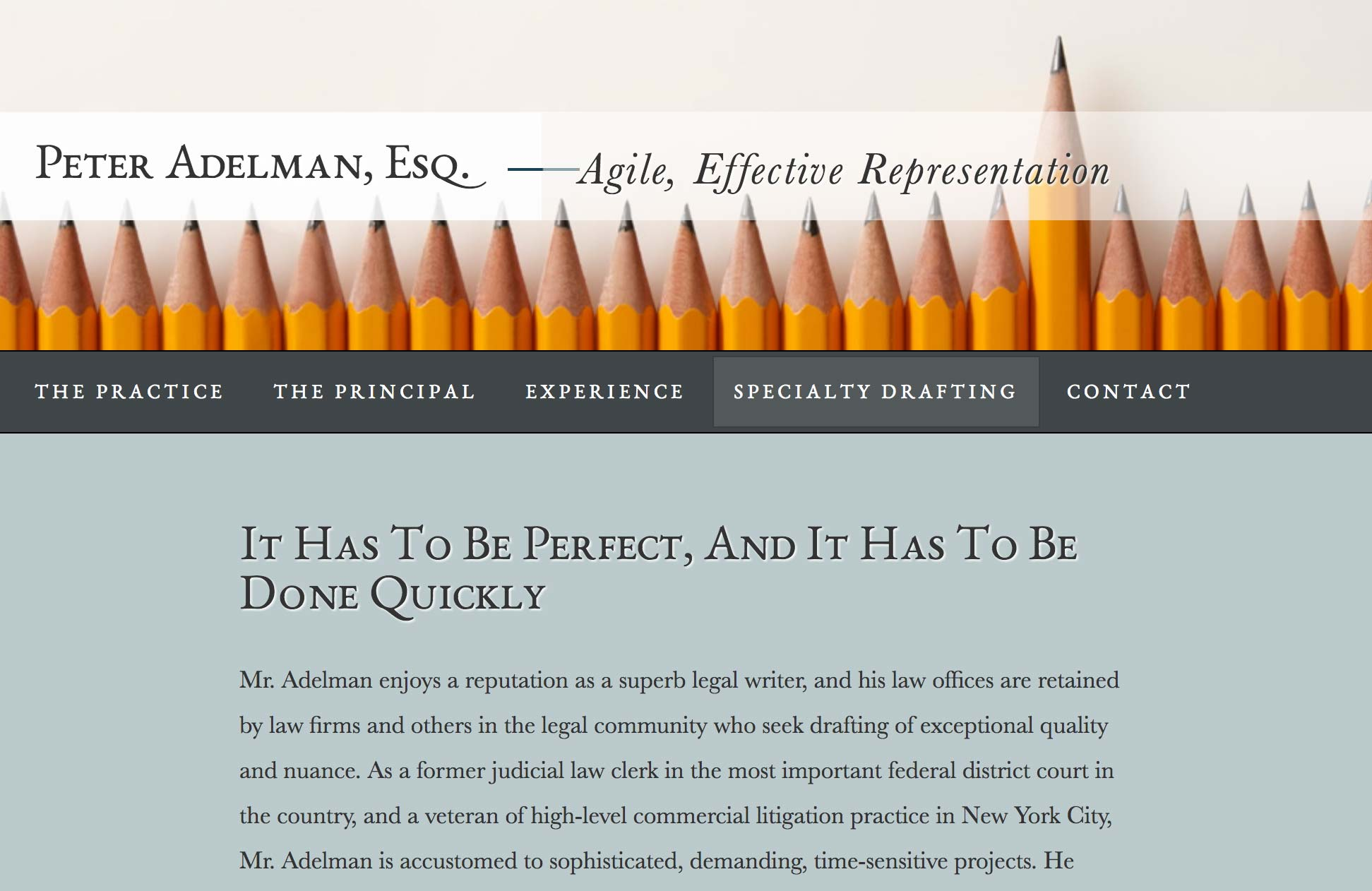 Peter Adelman Website Screenshot